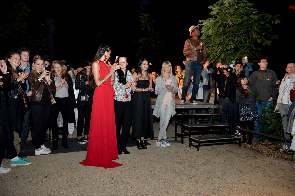 """""""Catwalk Under The Stars II"""" designers Moni Novy, Ayumi & Therese Taplick with Creative Director Aaron Allred by Pasquale Scerbo Sarro"""
